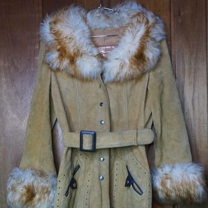 The Tannery Montgomery Ward Tan Suede Fluffy Faux